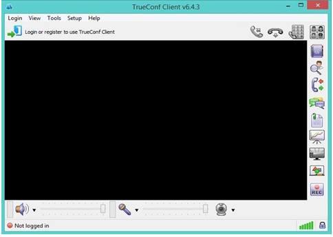 Khung hình phần mềm TrueConf