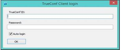 TrueConf Client login