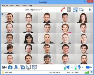 Trueconf sever 4.3.1 hỗ trợ 25 người tham gia đồng thời trong video hội nghị