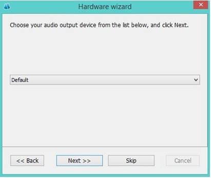 Tab thiết bị âm thanh trong TrueConf Client