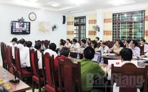 Giao ban trực tuyến với các xã, thị trấn: Bước tiến trong cải cách hành chính