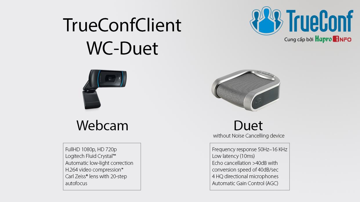 Bộ thiết bị giải mã hội nghị truyền hình cho phòng họp cá nhân (TrueConfClient-WC-Duet)