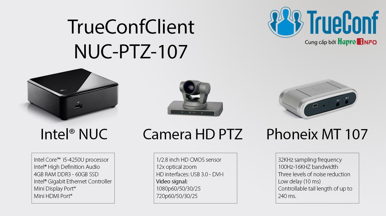 Bộ thiết bị giải mã hội nghị truyền hình cho phòng họp lớn (TrueConfClient-NUC-PTZ-107)