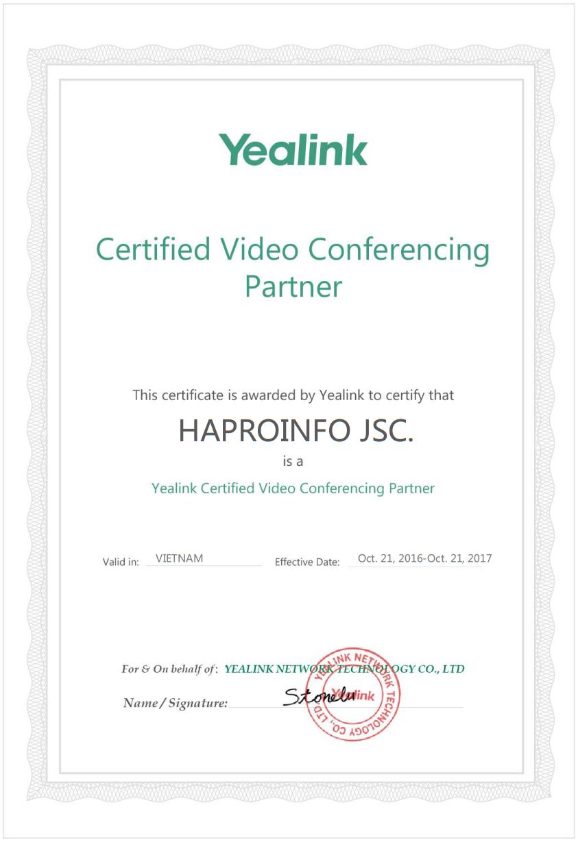 HaproInfo là nhà cung cấp chính thức của Yealink tại Việt Nam