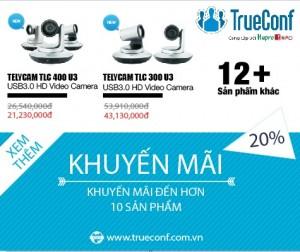 Giảm giá 20% các thiết bị hội nghị truyền hình nhập khẩu