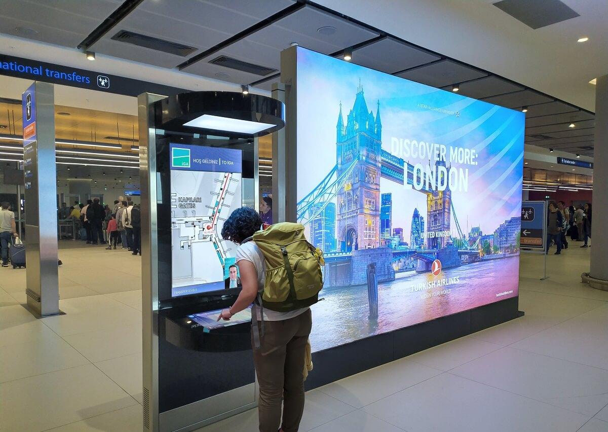 Kiosk TrueConf ở sân bay Istanbul