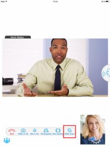 Chia sẻ nội dung của Trueconf app trên iOS và Android