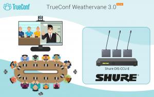 Phần mềm TrueConf Weathervane 3.0: Hỗ trợ cho hệ thống hội nghị Shure