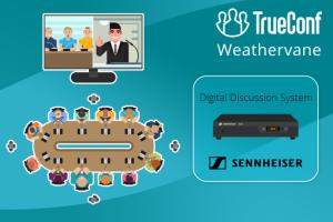 Phần mềm hội nghị TrueConf hợp tác với Sennheiser tạo ra nhiều hệ thống điều khiển camera cho các phòng hội nghị lớn