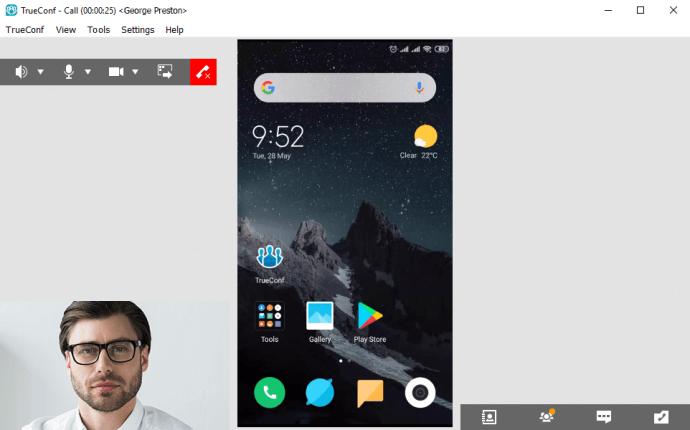 Chia sẻ màn hình và ứng dụng của TrueConf trên hệ điều hành Android