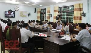 Bắc Giang triển khai họp giao ban trực tuyến tại huyện Yên Thế