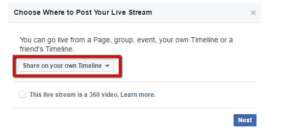 livestream họp trực tuyến lên facebook 10