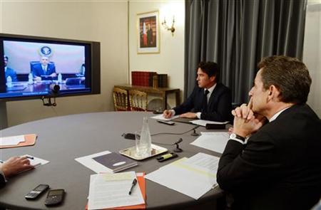 Họp trực tuyến giữa tổng thống Mỹ và Pháp năm 2012