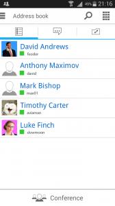 Phiên bản mới của TrueConf Mobile 1.22 cho Android