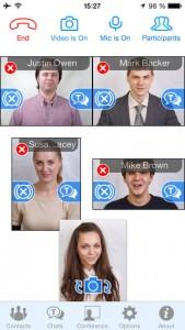 Phiên bản mới của TrueConf Mobile 1.5 cho iOS