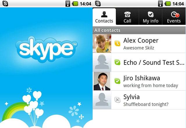 Skype trên thiết bị di động
