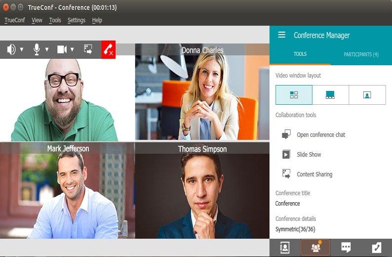 Phần mềm Hội nghị truyền hình TrueConf