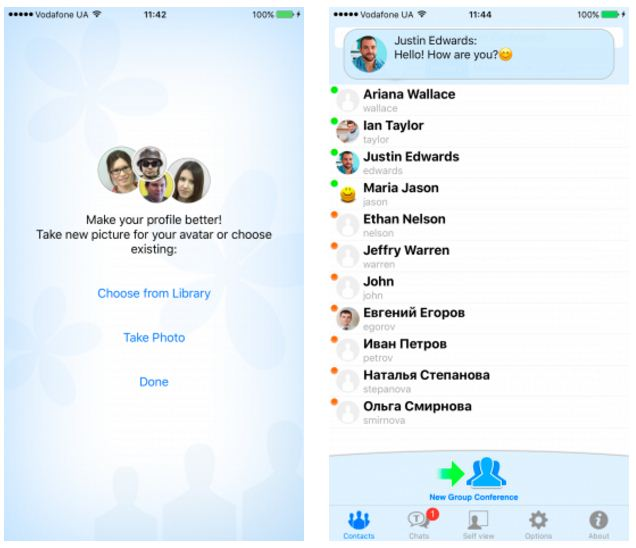 trueconf cập nhật 1.8.0 cho iOS