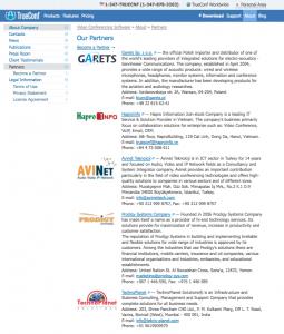 TrueConf cập nhật danh sách Đối tác trên website