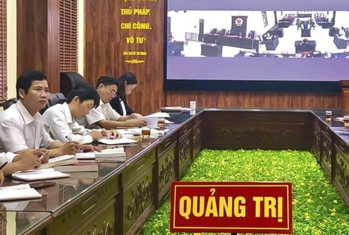 Phiên tòa trực tuyến của Tòa án nhân dân tỉnh Quảng Trị